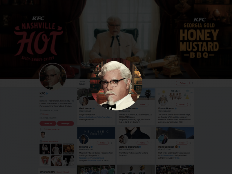 kfc colonel easter egg twitter
